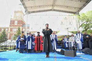 Chadwick Boseman at Alma Mater, Howard University